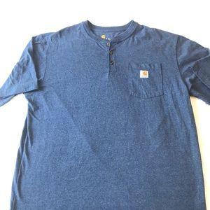 Carhartt xl tall casual blue top, like new